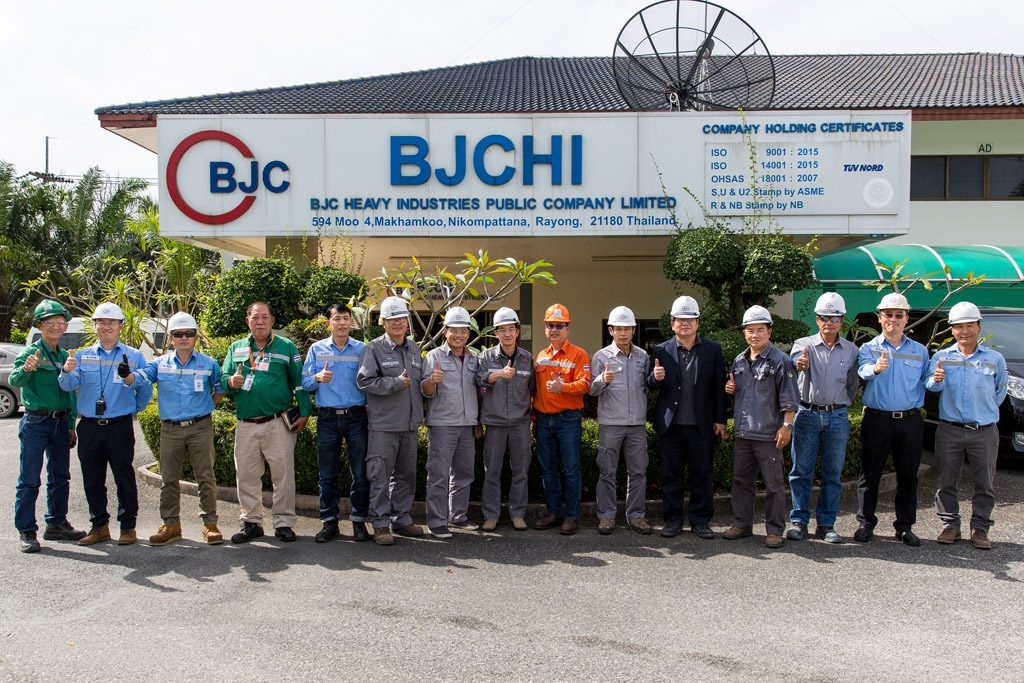 PTTGC and Samsung visit BJCHI | BJC HEAVY INDUSTRIES